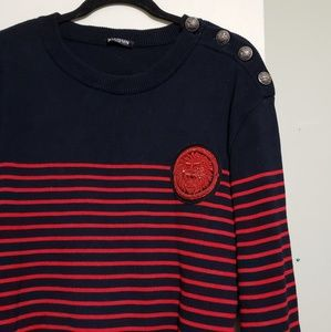 Balmain Sweaters - Balmain Men's Knitted Stripe Sweater (XXL)
